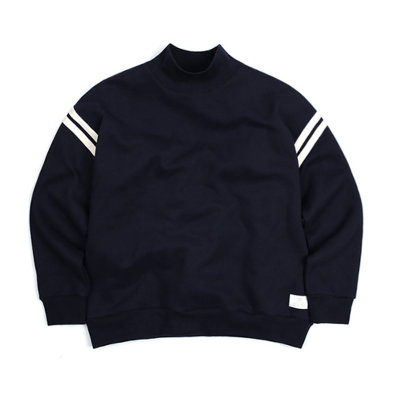 2801 Tape half neck sweat shirts(Navy)