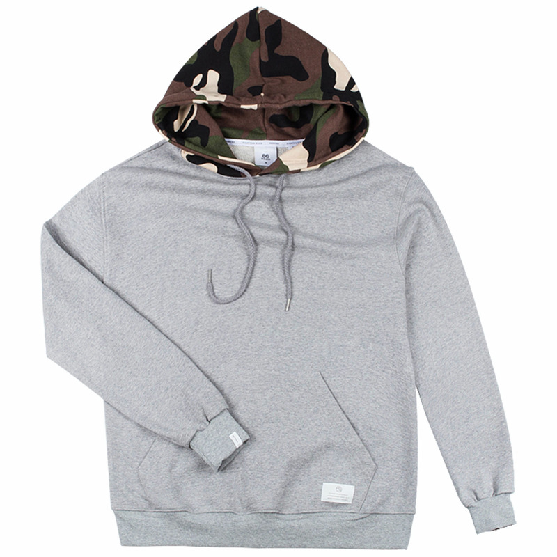 86RJ-2708 hood military point hoody _grey