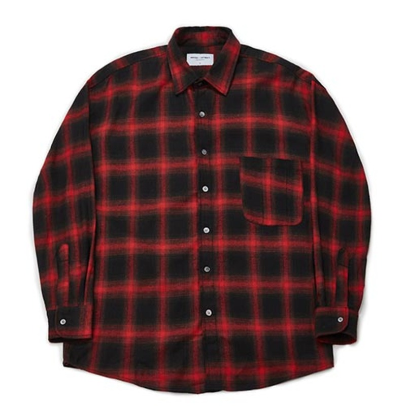 [PARTIMENTO x 86]Semiover Flannel Check Shirts (Red)