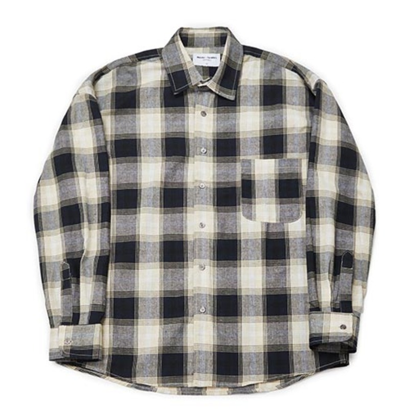 [PARTIMENTO x 86]Semiover Plaid Check Shirts (Beige)