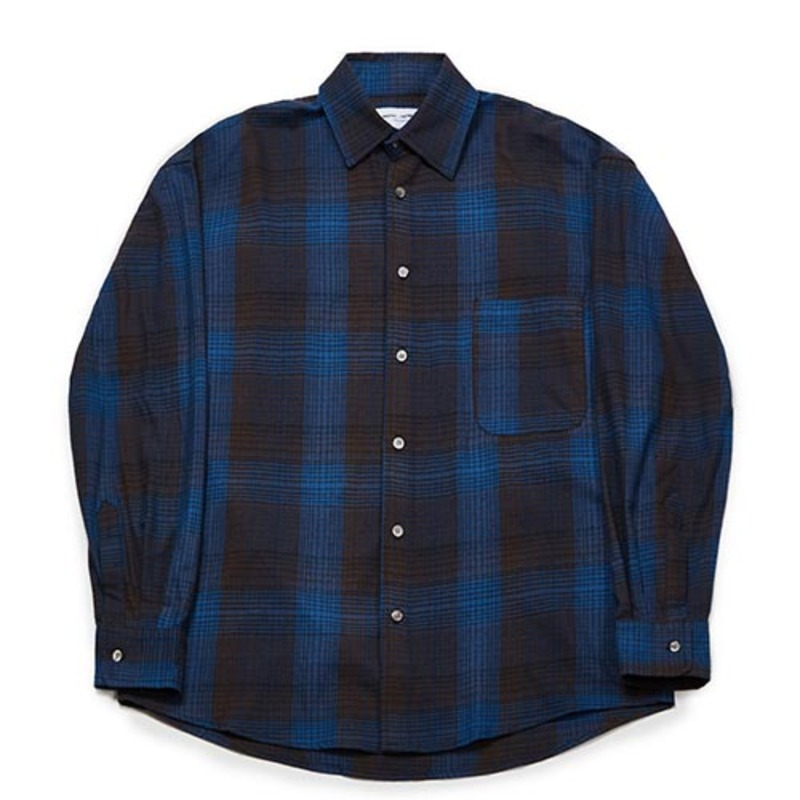 [PARTIMENTO x 86]Semiover Basic Check Shirts (Blue)