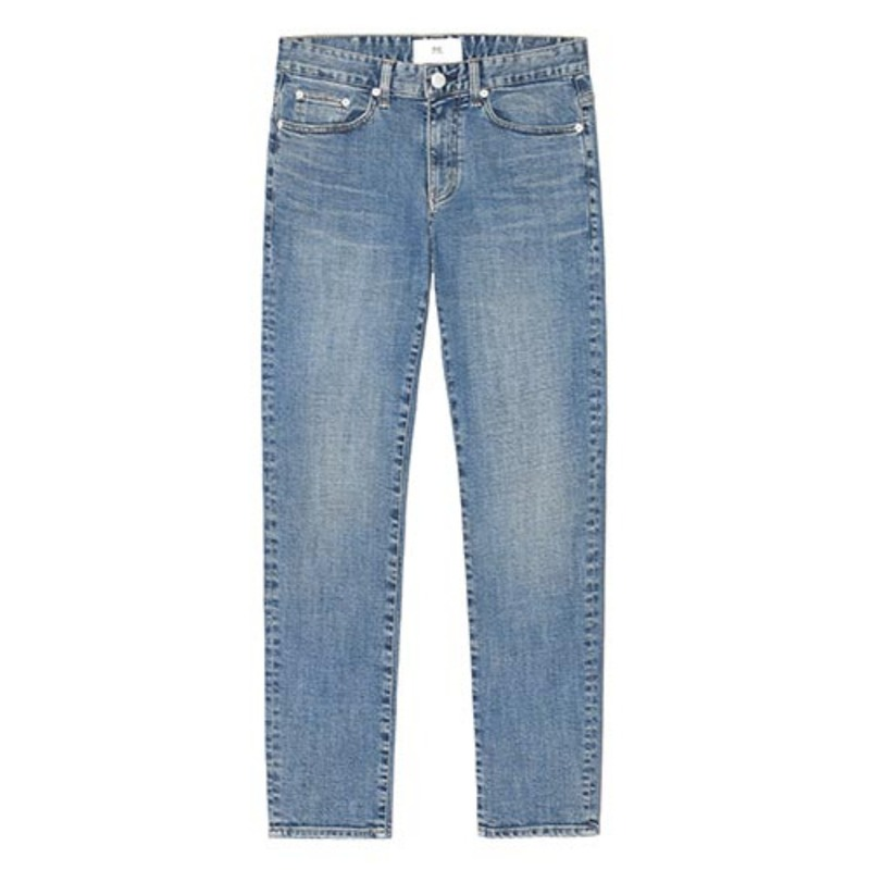 86RJ-1606 basic washing jeans(M/Blue)