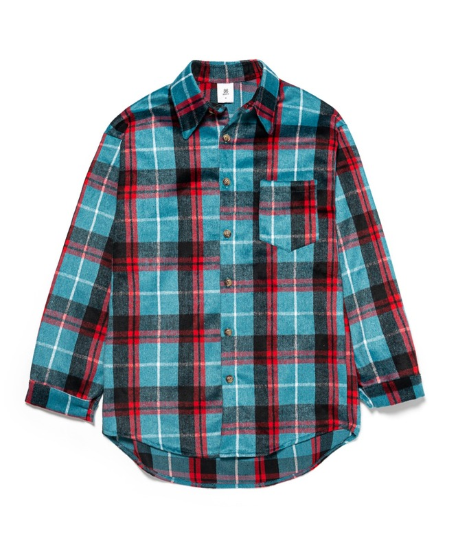 Napping Wool Check Shirts - Blue