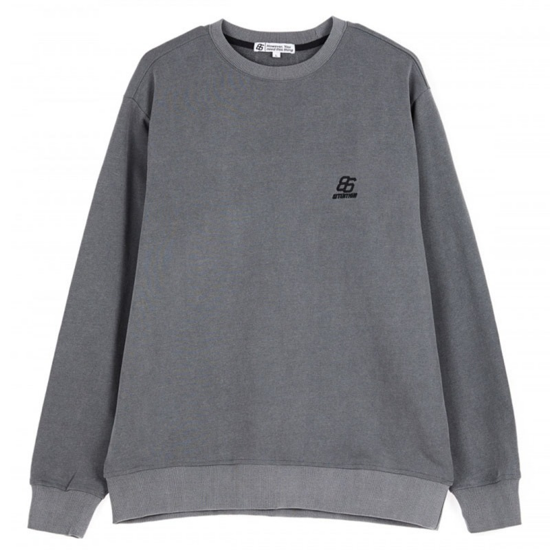 EFFECT DYED SWEATSHIRTS CHARCOAL
