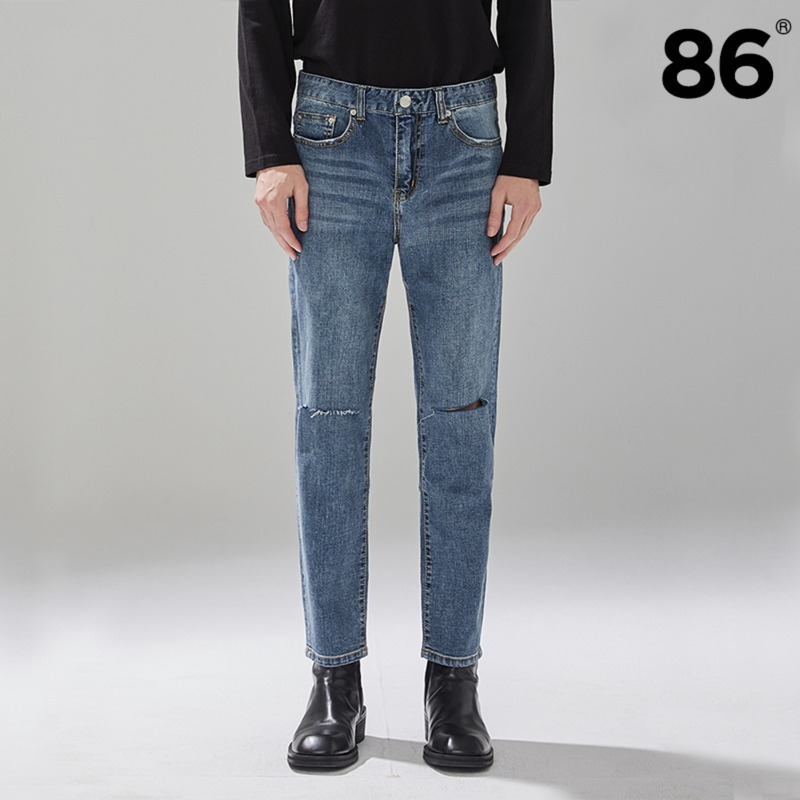 1825 Pleats washing cutting jeans / slim