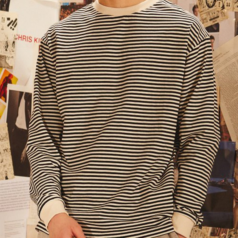 [BEST] 2809 Stripe t-shirt(Black)(40%SALE)