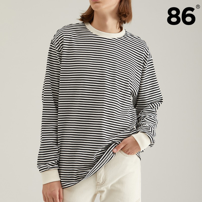 2809 Stripe t-shirt(Black)